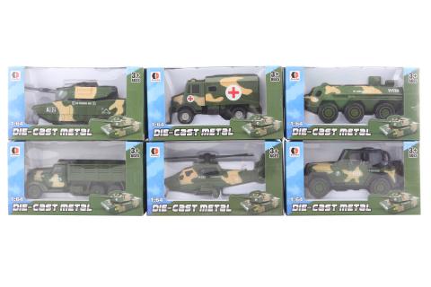Vojenské auto kovové 12/bal