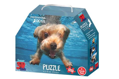 3D Puzzle Pejsci pod vodou 3v1