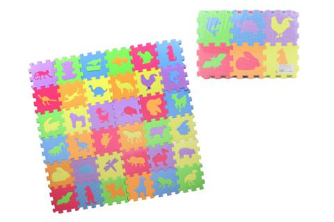 Pěnové puzzle 36 dílků - zvířátka