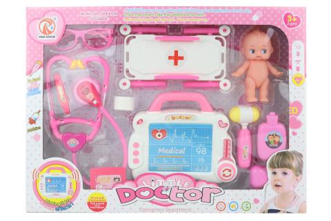 Doktorská sada na baterie s miminkem