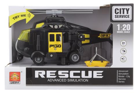 Helikoptéra černá na baterie