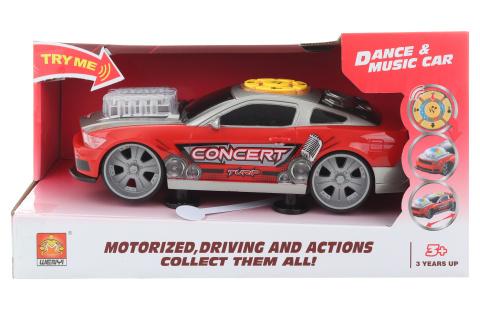 Auto sportovní červené na baterie