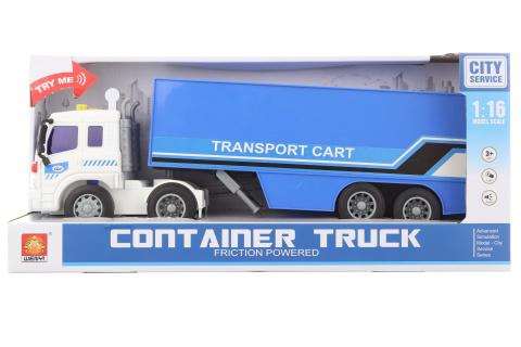 Kamion modrý na baterie