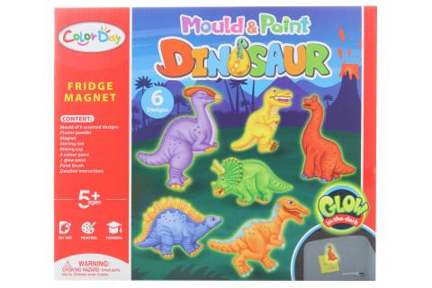 Výroba magnetů - dinosauři svítící