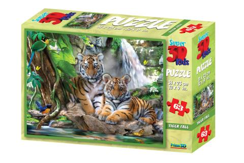 3D Puzzle Tygři 63 dílků