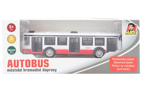 Autobus kovový na zpětný chod