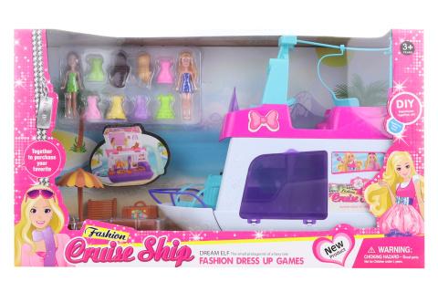 Loď pro panenky s doplňky