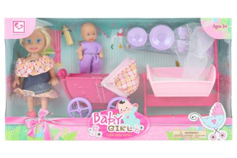 Panenka s miminkem a doplňky