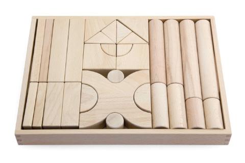 Dřevěná sada kostek
