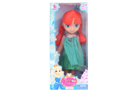Sněhová panenka se zrzavými vlasy