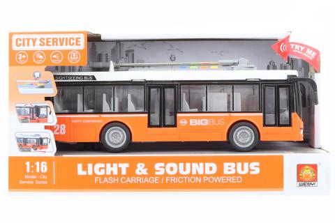Trolejbus oranžový na baterie