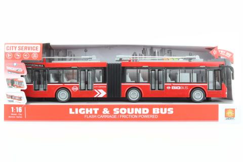 Trolejbus kloubový červený na baterie