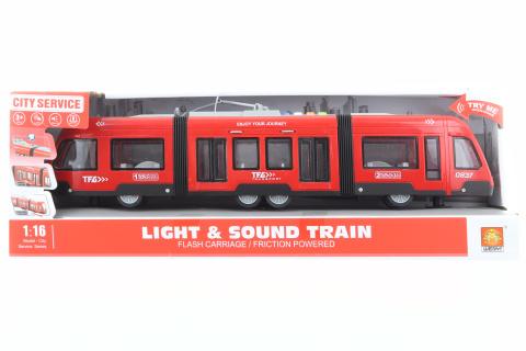 Tramvaj na baterie červená