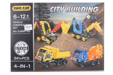 Šroubovací stavebnice - stavební auta