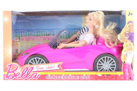 Auto pro panenky s panekou a panáčkem