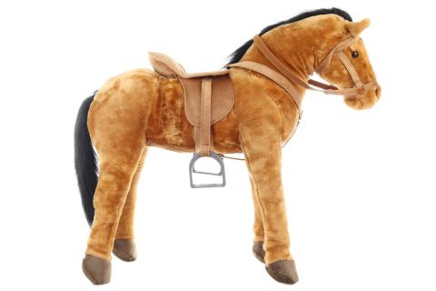 Plyš Kůň se sedlem nosnost 100 kg