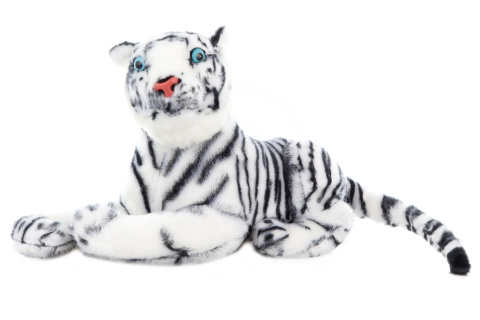 Plyš Tygr bílý 57 cm