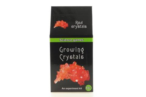 Mini chemická sada - rostoucí krystaly - červené