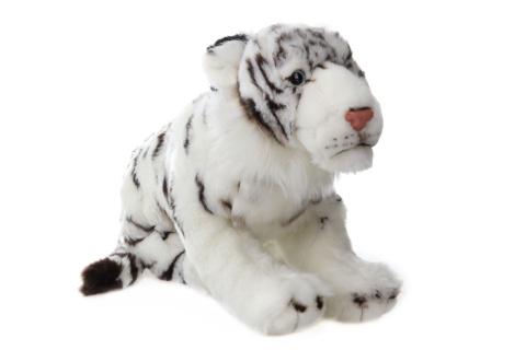 Plyš Tygr bílý