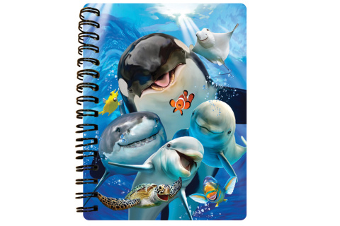Zápisník A6 Podmořské selfie 3D