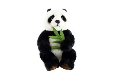 Plyš Panda s větvičkou 26 cm