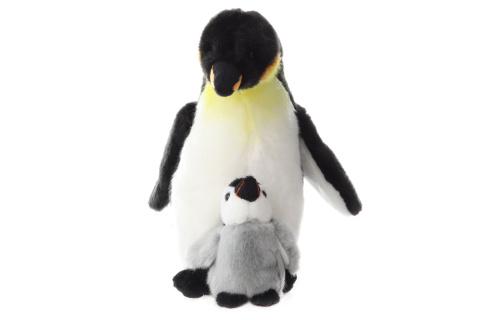 Plyš Tučňák s mládětem 27 cm