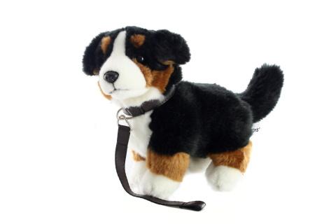 Plyš Bernský salašnický pes s vodítkem 26 cm