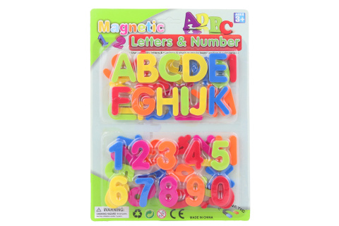 Magnetická čísla a písmena karta