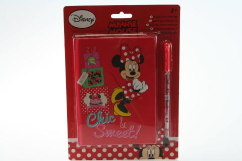 Zápisník a gelové pero Minnie