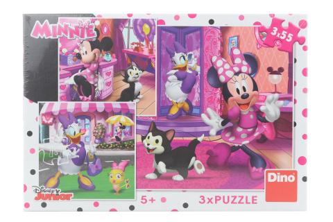 Puzzle Den s Minnie 3 x 55 dílků