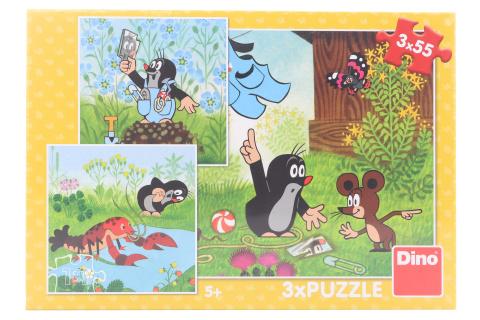 Puzzle Krteček a kalhotky 3 x 55 dílků