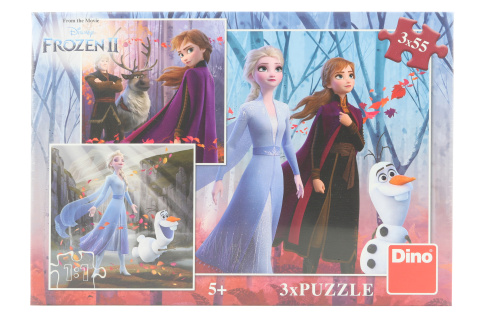 Puzzle Frozen II 3 x 55 dílků