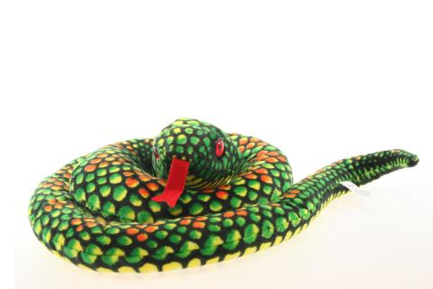 Plyš Had zelený velký