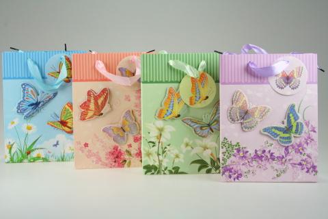Dárková taška Motýl lesk malá