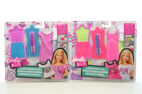Barbie D.I.Y módní návrhářské šablony DYV66
