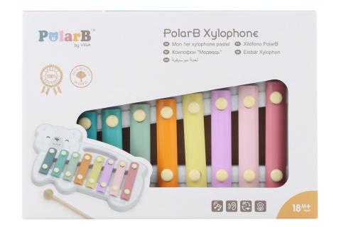 Dřevěný xylofon - polární medvěd