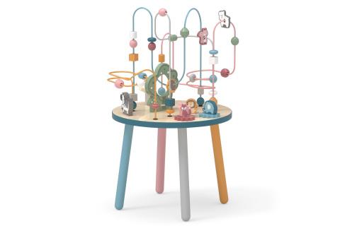 Dřevěný hrací stolek s labyrintem
