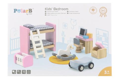 Dřevěný dětský pokoj