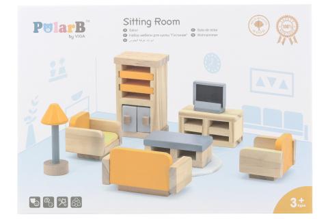 Dřevěný obývací pokoj