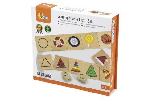 Dřevěné puzzle - tvary