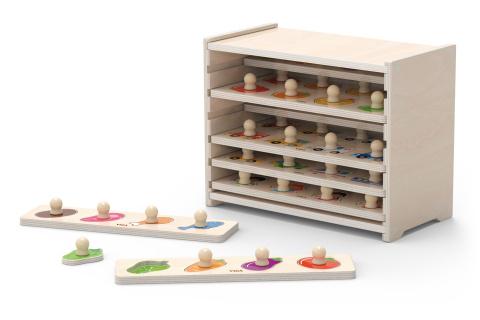 Sada dřevěných puzzlí - 12 ks