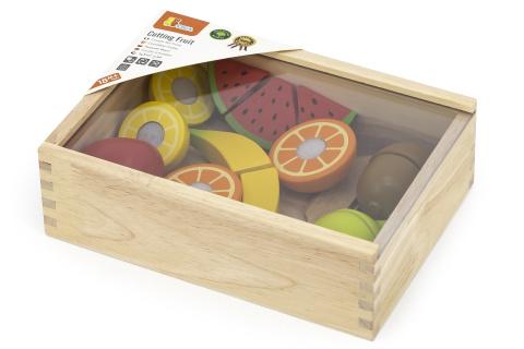 Dřevěné ovoce - krájení
