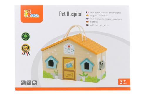 Dřevěná psí nemocnice s doplňky