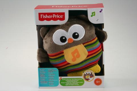 Fisher Price uspávací sovička hnědá  CDN55