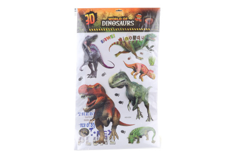 3D samolepky s  dinosaury