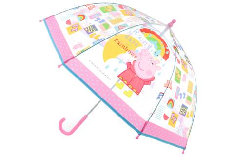 Deštník Prasátko Peppa průhledný manuáln