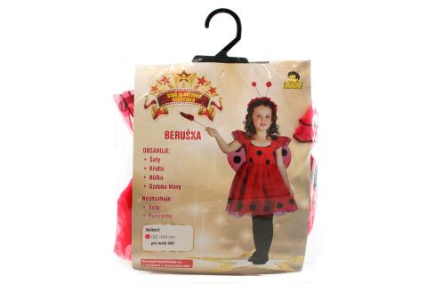 Šaty na karneval - Beruška, 92-104 cm