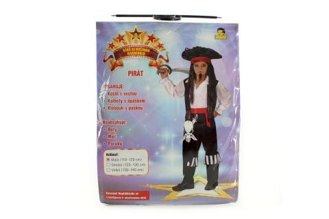 Šaty - Pirát, 110 - 120 cm