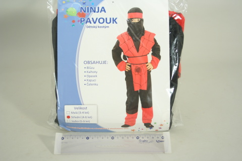 Šaty na karneval - Ninja pavouk