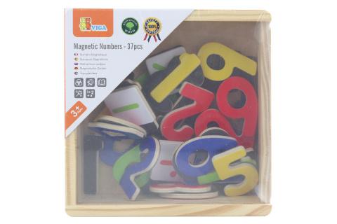 Dřevěná magnetická čísla v krabičce